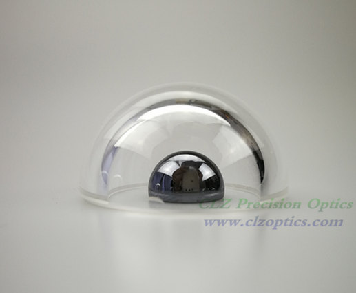 A common specification Dome window, 30mm diameter, 2mm thick, 15mm height, N-BK7 or equivalent type